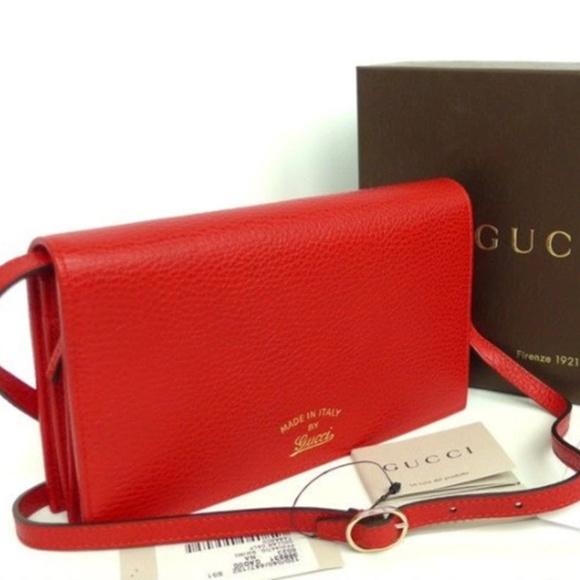 e1832f3579c Gucci Swing Leather Crossbody Red